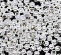 DoreenBeads Free Shipping! 1000PCs Silver Plated Smooth Ball Spacers Beads 3mm Dia. (B01111)