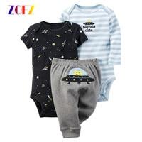 ZOFZ Baby Suits New Born Baby Clothing Set Baby Girls Clothes Lovely Cartoon Kids Clothing Fashion