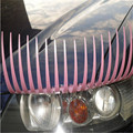 Car Styling Stickers 3D Black Eyelash Pink Eyelashes Vehicle Headlight Decorative Sticker Funny Decal On Car 2pcs = 1 pair