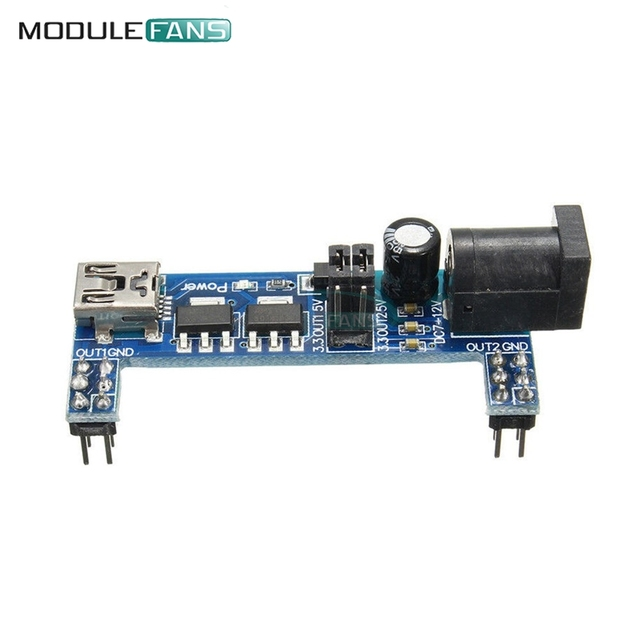 2PCS MB102 Breadboard Power Supply Module DC 3.3V 5V For Solderless USB Power Supply Compatible Module