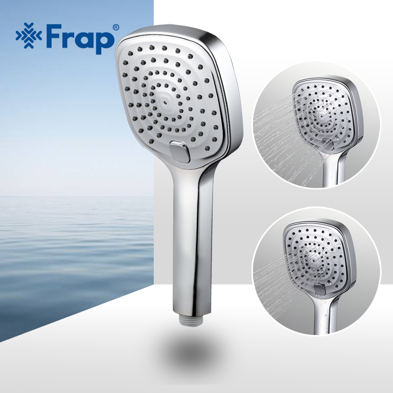 Frap Two Adjustment Water Saving Square Shower Head ABS Plastic Hand Hold Bath Shower Bathroom Accessories F004
