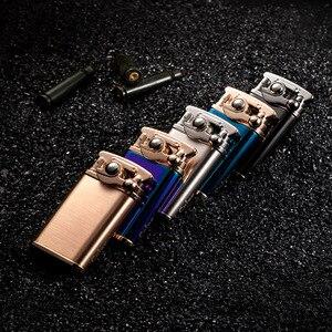 Image 4 - 2018 New Design Lighter Men Gadgets Kerosene Oil Lighter Gas Grinding Wheel Cigarette Retro Cigar Tobacco Bar Lighters