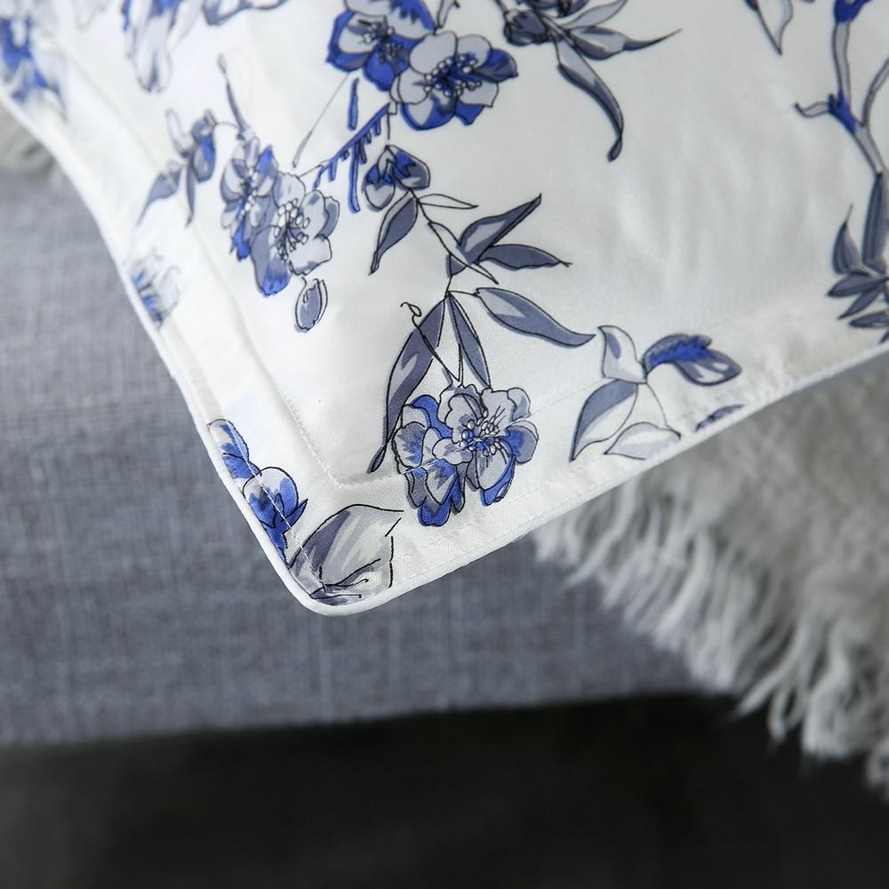 Μπλε λουλούδι Τυπωμένο μαύρο - Αρχική υφάσματα - Φωτογραφία 4