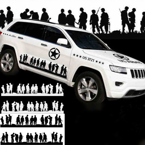 2015 new us army car styling door sticker car body decals for jeep wrangler compass land rover range rover hummer car stickers on aliexpress com alibaba