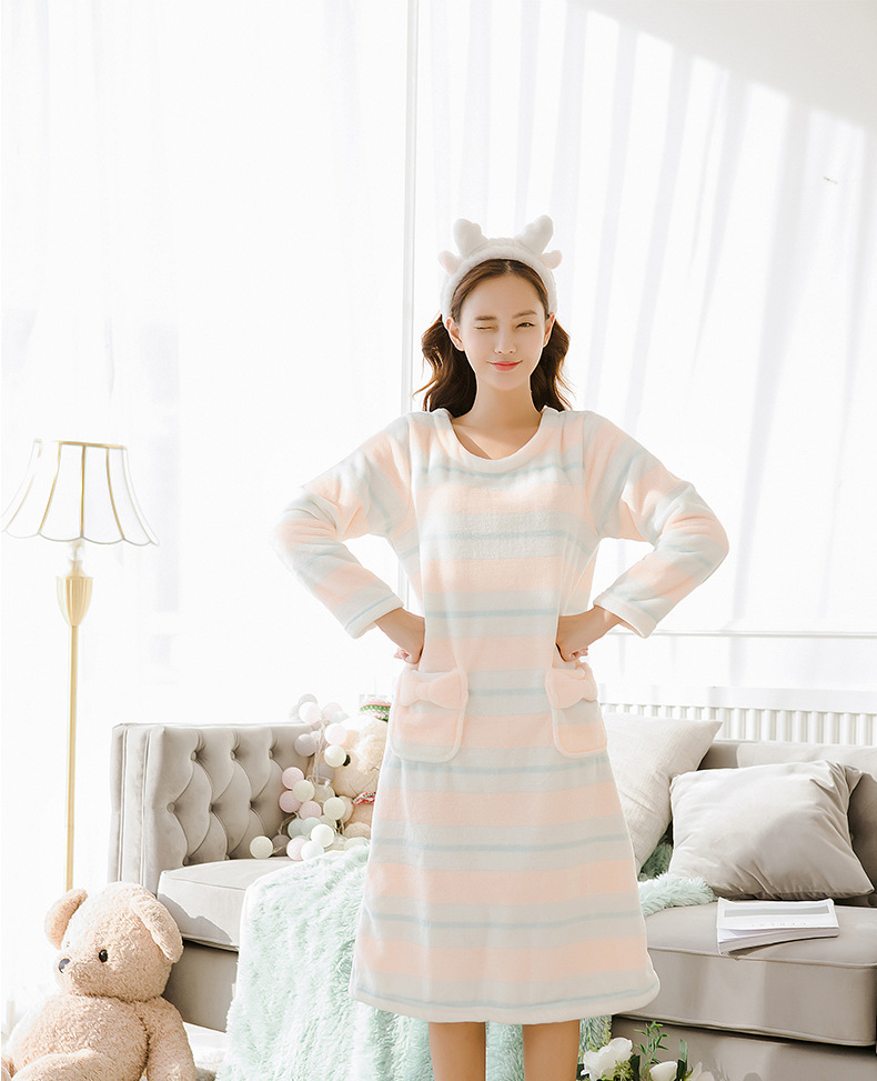 2be973ef6ed 2019 Womens Flannel Pajamas Sleepwear 2019 Autumn Winter Plus Size ...
