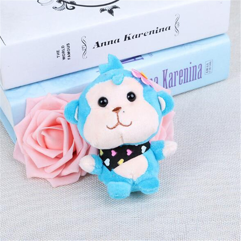 1PCS Cute Monkey Plush Toys Small Pendant Cartoon Fruit Couple Stuffed Toy Keychain Activities Gift For Kids 10CM HANDANWEIRAN in Stuffed Plush Animals from Toys Hobbies