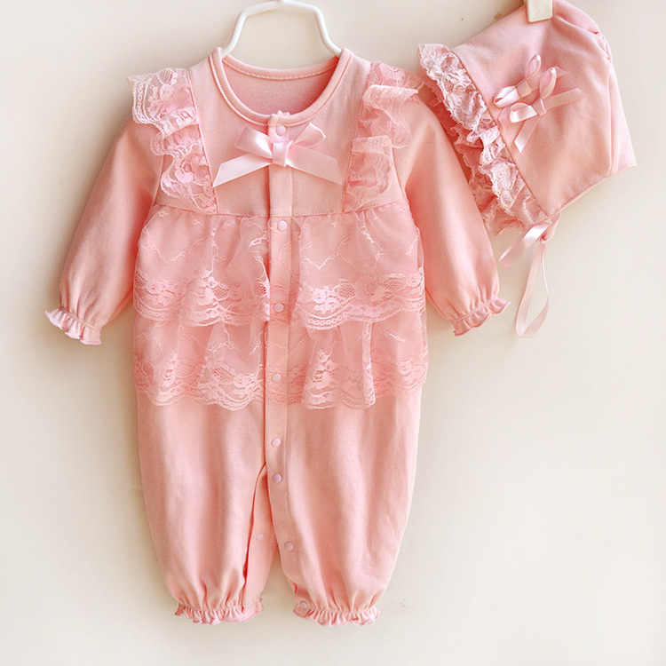 2ba62cebf ... Newborn Romper Suits Hello Kitty 0-3 Months New Born Baby Girl Rompers  Set Winter ...