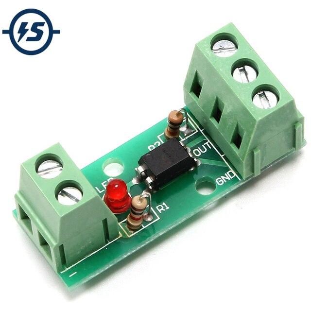 12 V 1 Canale Modulo di Isolamento Accoppiatore Ottico Isolato Consiglio No Din Supporto Ferroviario PLC Processori 80 KHz PC817 EL817