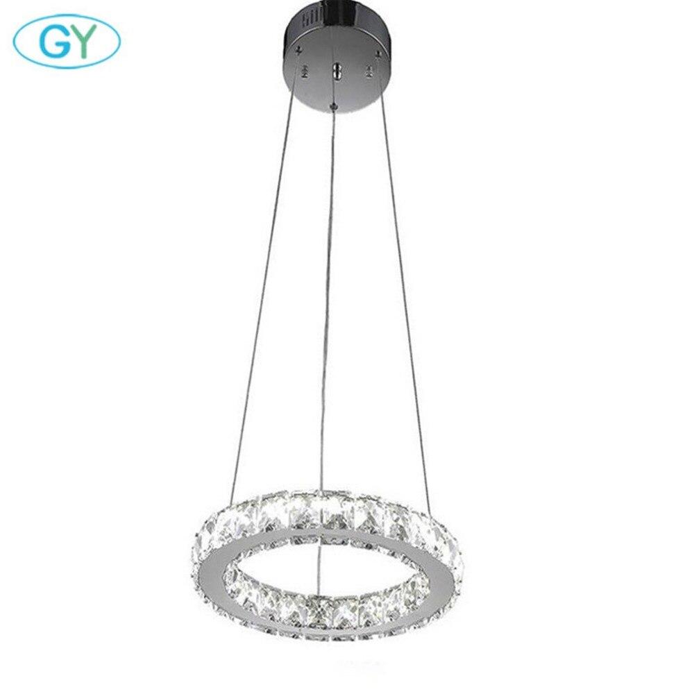 9 Вт светодиодные Хрустальные подвесные светильники D20cm 6000K холодный белый светодиодные люстры Холодный белый домашний подвесной светильни