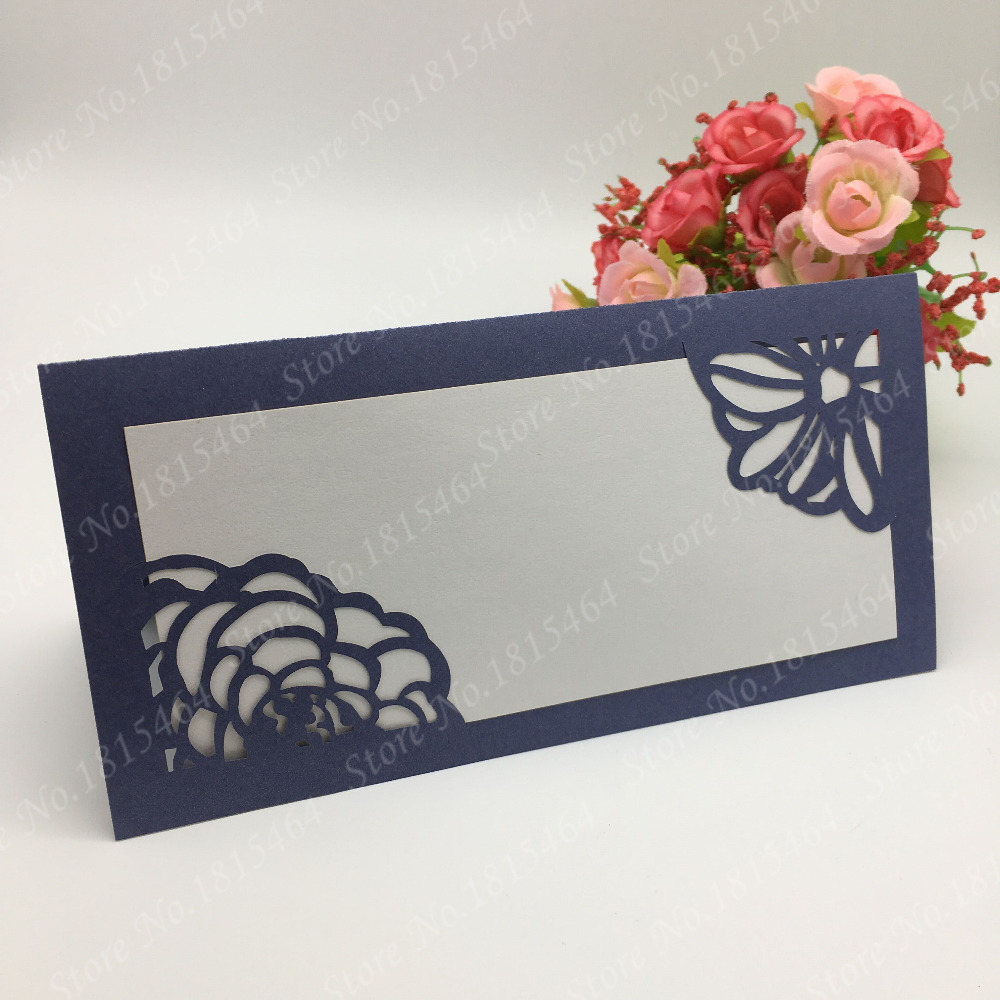 50pcs Table Invitation Name Cards Place Cards Laser Cut Banquet Card Happy Birthday Wedding Party Decoration Supplies