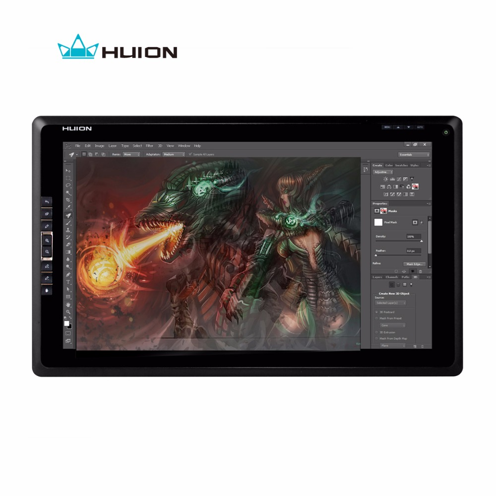 Huion GT-185 Drawing Monitor Interactive Pen Display Tablet Monitor Touch Screen Monitor Digital Graphic LCD Monitors With Gift huion p608n usb 26 function keys graphic tablet black