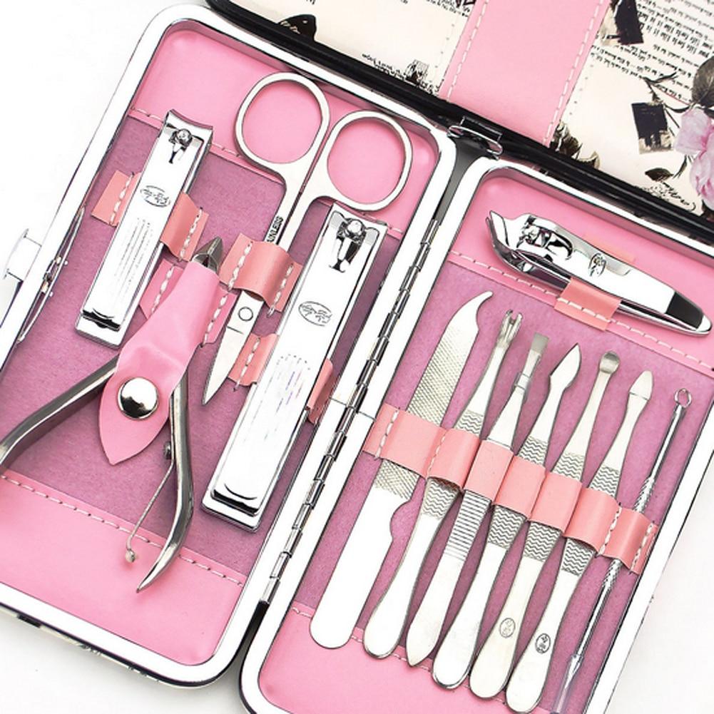 12pcs Manicure Set Pedicure Scissor + Cuticle Clipper+ Ear Pick + ...