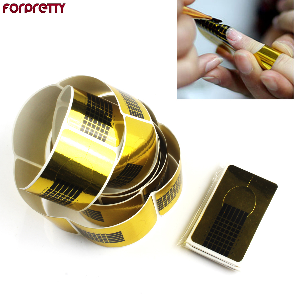 500pcs Nail Form Tool Product Accessory For UV Gel & Acrylic Art Extension Top Quality Wholesale 265