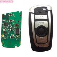 HXLIWLQLUCKY keyless controle remoto 4 Botão 868 MHz 7953 Chip para BMW CAS4 F Plataforma 5 7 Série com hu92 lâmina