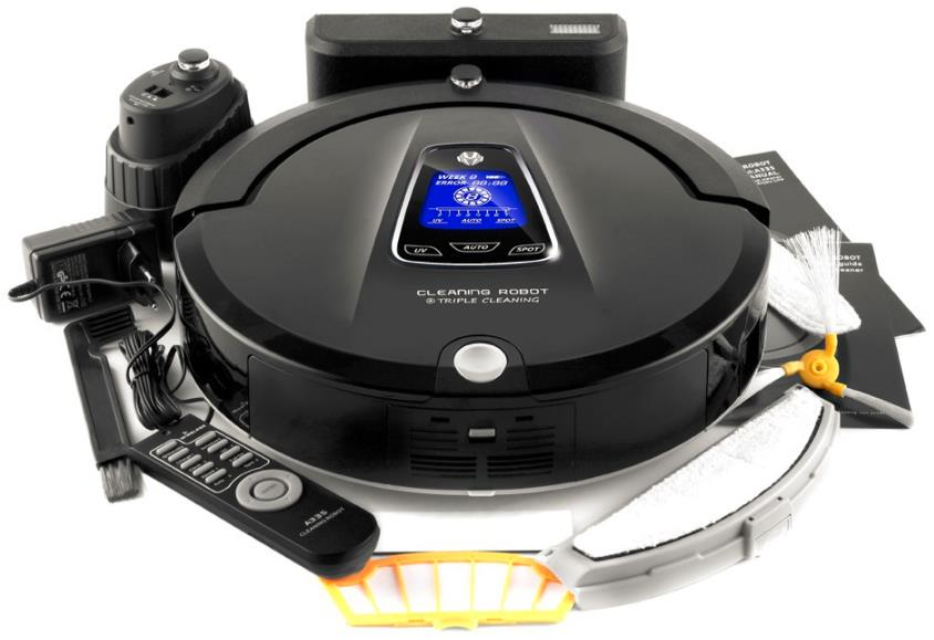 Robot Vacuum Cleaner A335(Sweep,Vacuum,Mop,Sterilize),LCD TouchScreen,Schedule,2Way VirtualWall,Self Charge liectroux robot floor cleaner multifunction sweep vacuum mop sterilize touch screen schedule side brush autorecharge virtual