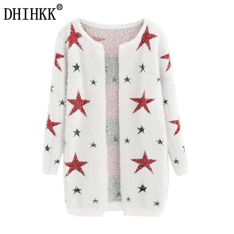 DHIHKK 2017 New arrivals Fashion Star Pattern Cardigans Female Sweaters  Long Sleeve Knitted Slim Women Sweater - Online Buy Wholesale Patterned Cardigans From China Patterned