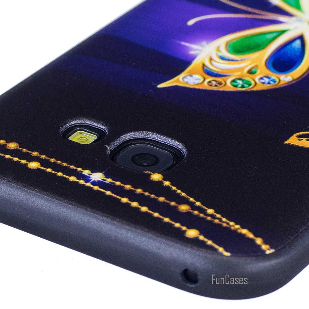 למעלה איכות HD הקלה רך TPU טלפון מקרה לסמסונג גלקסי S7 קצה J7 2017 J3 J5 A5 A3 2016 נשר ינשוף לסמסונג S8 בתוספת Etui