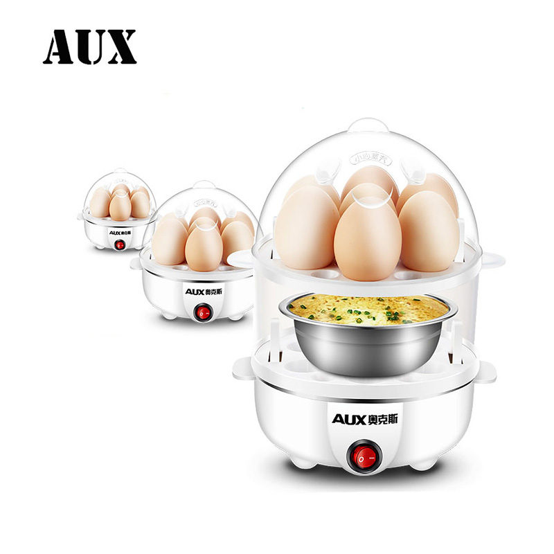 AUX Electric Auto-Off Generic Multi-function Electric Egg Cooker 7 Eggs Boiler Steamer Cooking Tools Kitchen Utensils Breakfast multifunctional electric egg boiler cooker mini steamer poacher breakfast cooking tools machine kitchen utensils