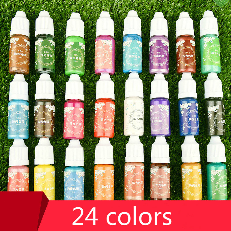 Handmade Crystal epoxy resin for jewelry making Glue Color Pearlescent Coloring Dye Colorant Pigment Handmade Art Tool 24 colorsHandmade Crystal epoxy resin for jewelry making Glue Color Pearlescent Coloring Dye Colorant Pigment Handmade Art Tool 24 colors