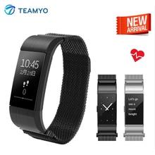 Teamyo S19 Смарт Браслет часы крови Давление монитор сердечного ритма фитнес-трек Smart Браслет Шагомер для Android IOS
