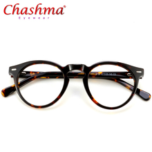 Acetate Optical Glasses Frame Women Vintage Round Myopia Prescription Eyeglasses Men Retro Spectacles Eyewear Oculos