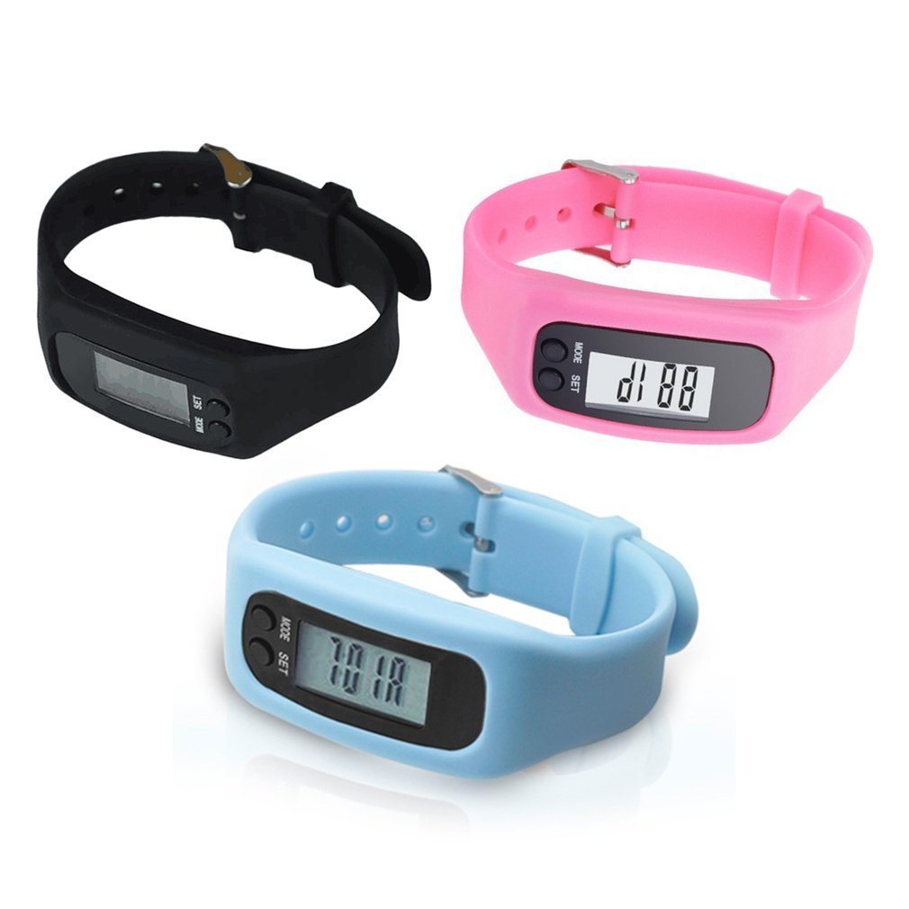 BLOOD PRESSURE Smart Wrist Watch Bracelet Pedometer Sports Monitor Running Exercising Step Counter Fitness Silicone Wristband