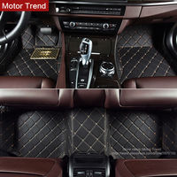 Customized 100 Fit Car Floor Mats Perfect For BMW X5 E70 F15 PVC Leather 3D Car