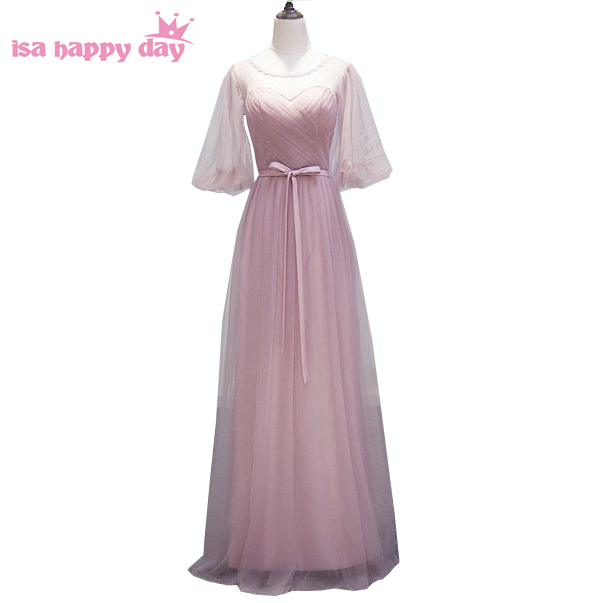 special occasion ladies formal blush sexy birthday outfits ball gown modest special event dresses with sleeves new 2019 W3439