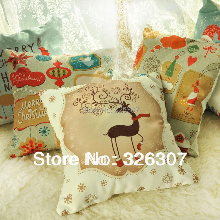 font b Christmas b font cushion pillow with core birthday font b gift b font
