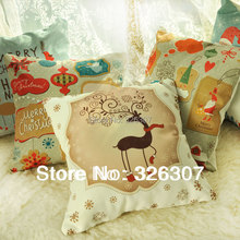 Christmas cushion pillow with core birthday gift american backing block 45x45cm