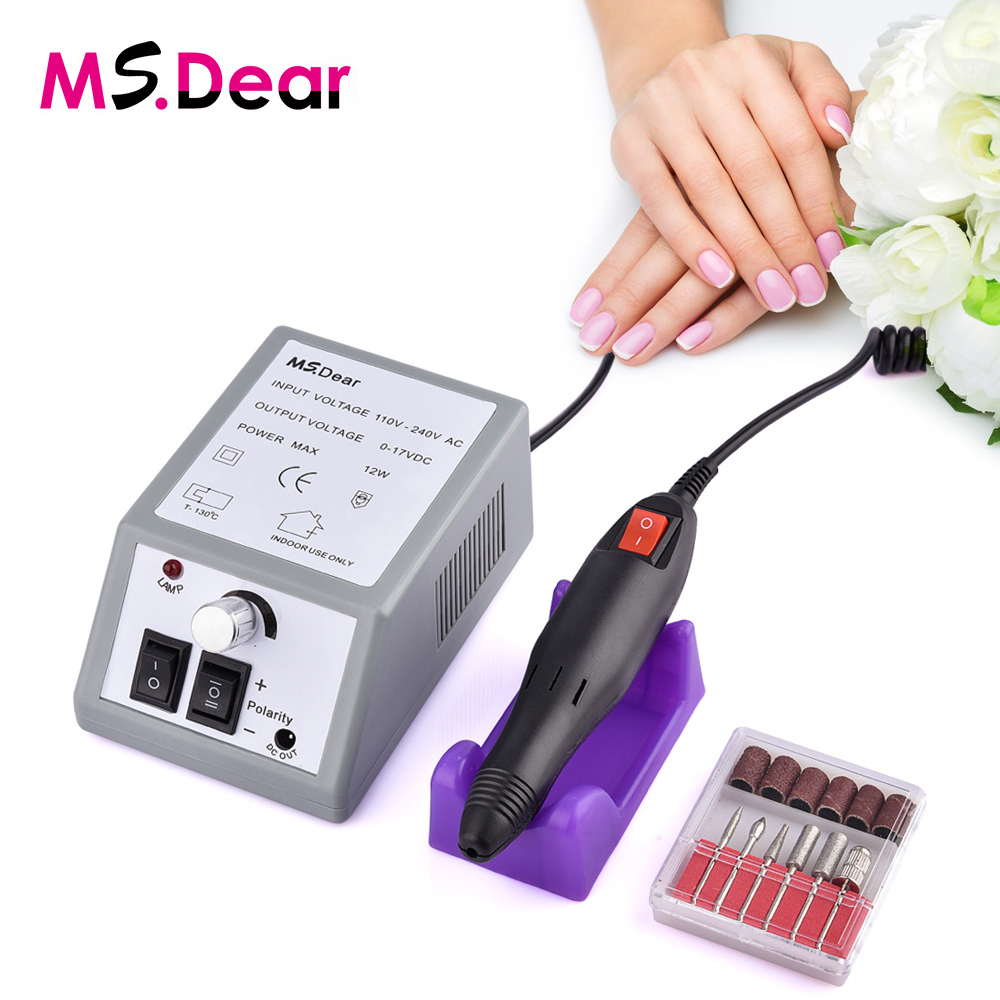 20000RPM Electric File Drill Nail Art Bit Professional Manicure Grinding Machine Pedicure Polisher Tools Adjustable Dropshipping reciprocating gas file file pneumatic vibration grinding machine grinding machine bd 0049