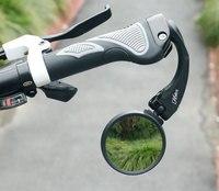 Espelho de carbono para MTB Estrada Bicicleta ciclo Guiador Final Interior Montar Aço Inoxidável Unbreakable Lente Quadro De Alto Impacto Hafny