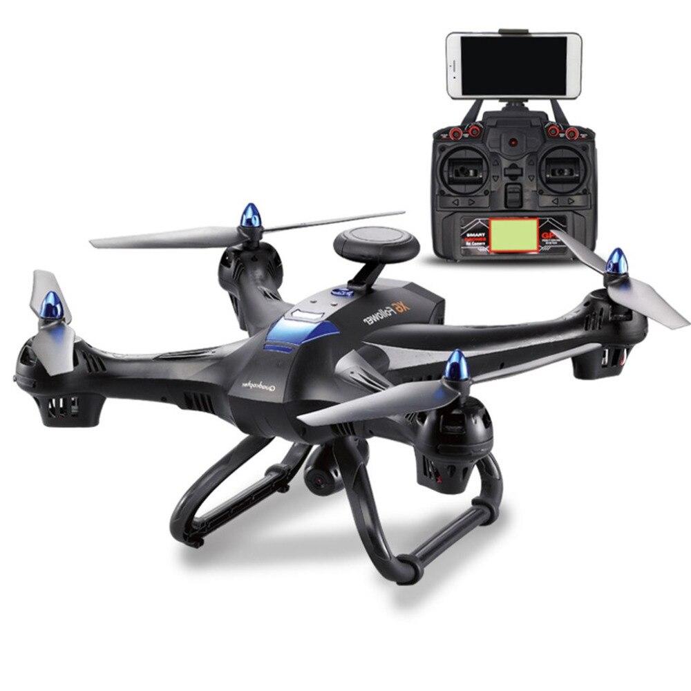 2,4 г Радиоуправляемый Дрон Квадрокоптер с камерой 720P HD gps 5 дюймов ЖК-дисплей удаленного Управление Квадрокоптер 2000 мАч 3D опрокидывание 4 Кан...
