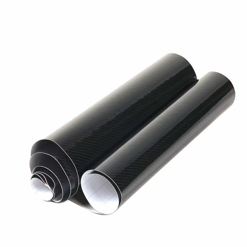 Carsun adesivos de carro 5d de alta qualidade, envoltório de vinil de fibra de carbono ultra brilhante, alta qualidade, filme de carbono tamanho: 10/20/30/x50cm