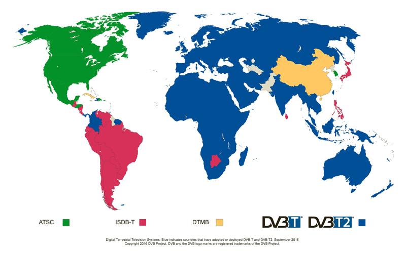 DIGITAL TV DVB-T DVB-T2 ISDB-T