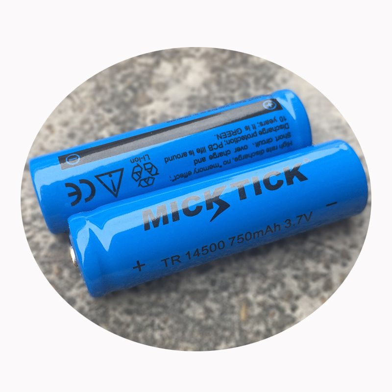 1/2/10PCS/LOT EastFire AA <font><b>14500</b></font> 750mah 3.7 V lithium <font><b>ion</b></font> rechargeable <font><b>batteries</b></font> and LED flashlight, free delivery image