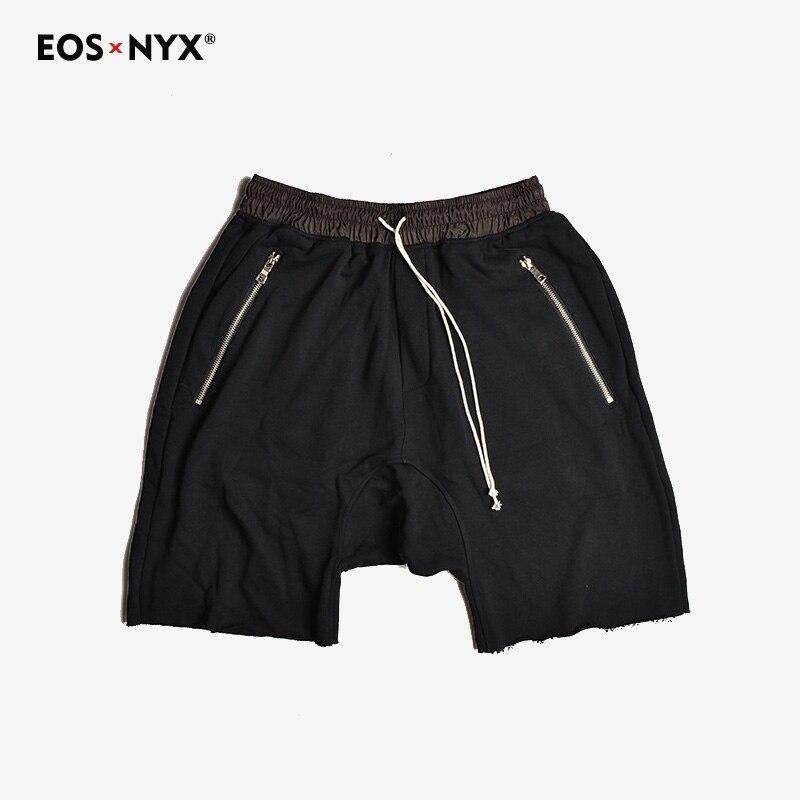 Eosnyx Justin Bieber Kanye West Fear Of God Shorts Zipper Pockets Casual Hip Hop Harem Shorts
