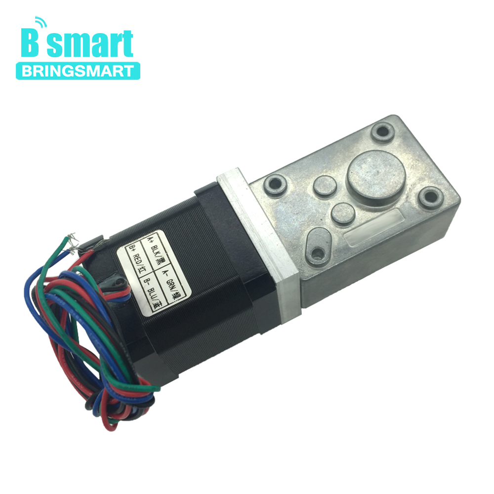 Bringsmart A58SW-42BY 12 Volt DC Stepping Geared Motors 24V Worm Stepper Geared Motor Reduction Machine Self-locking GearboxBringsmart A58SW-42BY 12 Volt DC Stepping Geared Motors 24V Worm Stepper Geared Motor Reduction Machine Self-locking Gearbox