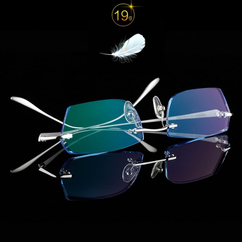 650 Luxuriöse Linse Männer Rahmen Strass Black Ti reflektierende gold Gläser Brillen Anti Gold Hohe Titan silver Klare 0qROH