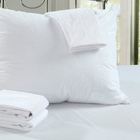2017 Free Shipping Stock Size 50x70cm Terry Waterproof Allerzip Pillow Protector Pillowcase For Bed Bug And