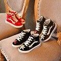 Lienzo Flores impresas Zapatos de Primavera Chicas Zapatillas de Deporte Transpirable Zapatos de La Escuela Para Niños De Goma Plana de Alta Calzado Chica