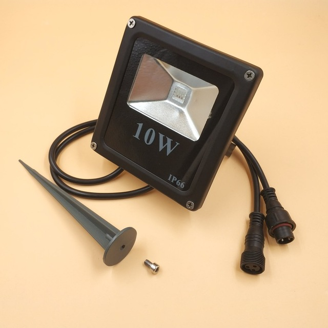 Smart 10W LED Flood Light WS2811 Controlled IP66 Waterproof with accessories and 13.5mm/18.5mm/xconnect connectors