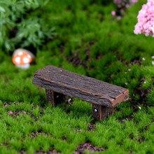 Кукольный домик Миниатюрный деревянный стул из смолы мебель Сказочный Сад орнамент ремесла современные пейзажные игрушки украшение двора