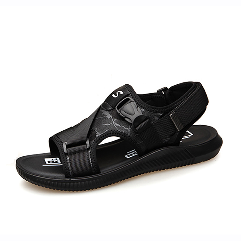 Buckle Strap Men Canvas Sandals Fashion Summer Travel Beach Shoes Teenager Boys School Footwear Breathable Durable Casual Sandal