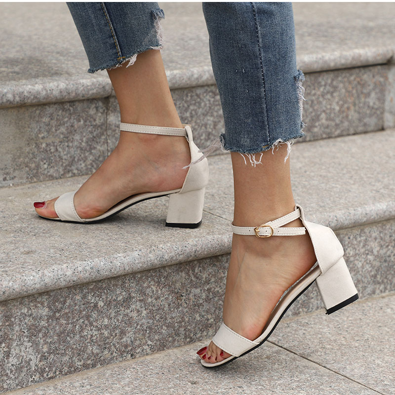 HTB1r AECuGSBuNjSspbq6AiipXas MCCKLE Summer Women Shoes Gladiator Buckle Strap Cover Heel Fashion Chunky Ladies Sandals For Woman Ankle Strap Footwear