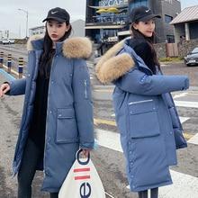 winter jacket women parka 2020 warm plus thick Big faux fur collar hooded coat female Plus size XS-3XL Womens down jacke