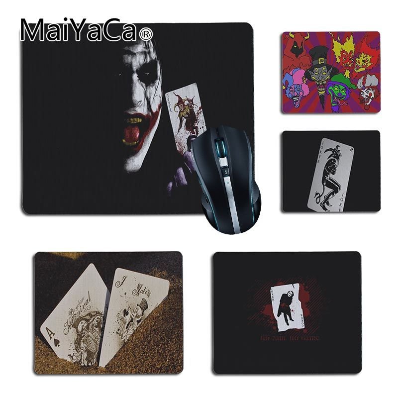 MaiYaCa New Arrivals Joker Card1 Computer Gaming Mouse mats Size for 25X29cm 18x22cm Gaming Mousepads