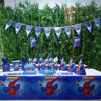 132ชิ้นธงผ้าปูโต๊ะหลอดถ้วยแผ่นเดอร์แมนและอื่นๆพรรคซัพพลาย