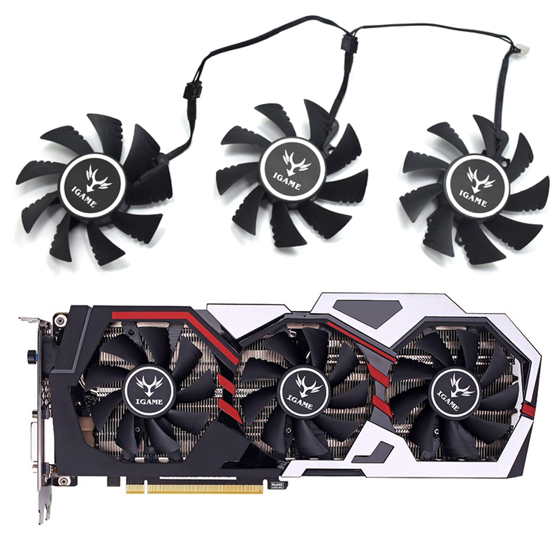 75mm iGame GTX 6GB Cooler fan 4pin Replace for Colorful iGame GeForce GTX 1070Ti GTX 1080 GTX 1050 Video card