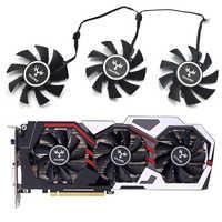 75mm iGame GTX 1060 6 GB ventilador 4pin para reemplazar de iGame GeForce GTX 1070Ti GTX 1080 GTX 1050 tarjeta de Video